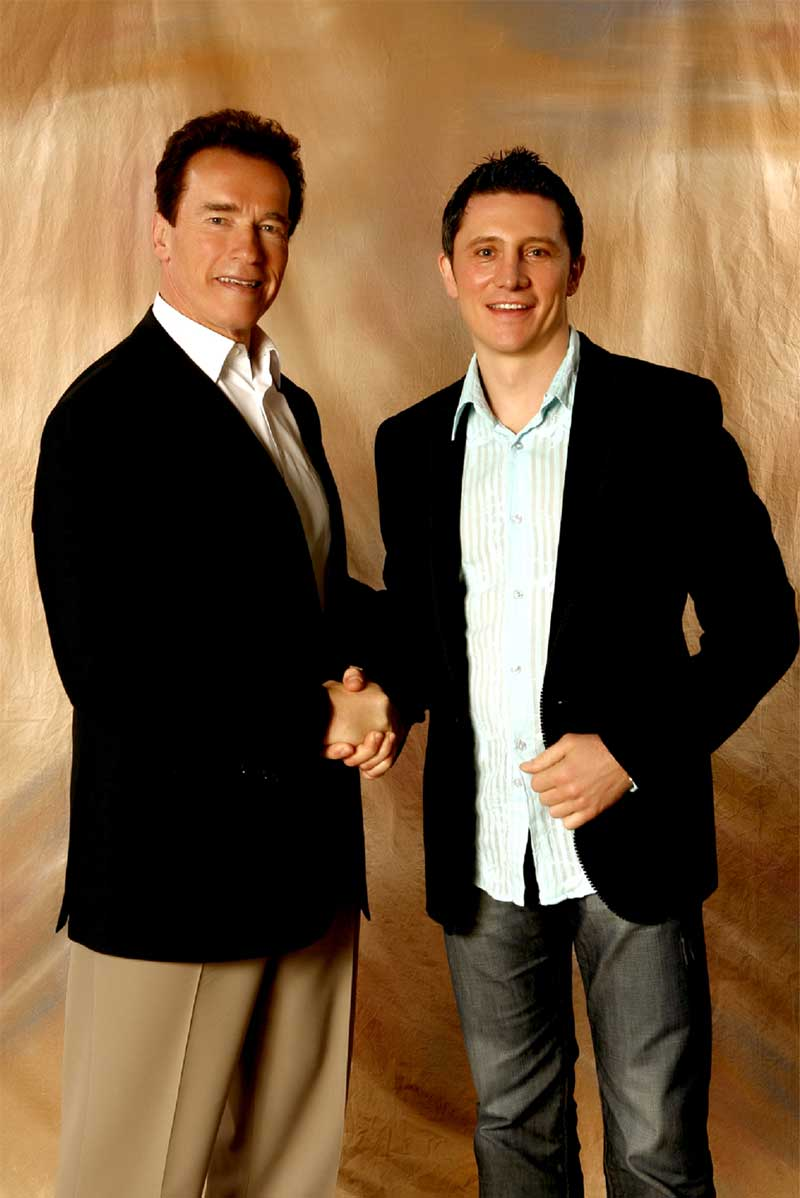 Arnold Schwarzeneggar and Marko Rubel