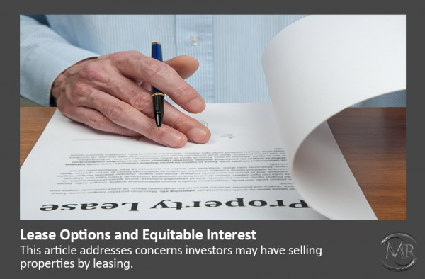 Lease Options and equitable interest article